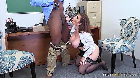 Astonishing large boobs principal Sara Jay