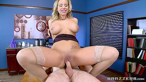 Office pussy fucking with shaved cunt Olivia Austin