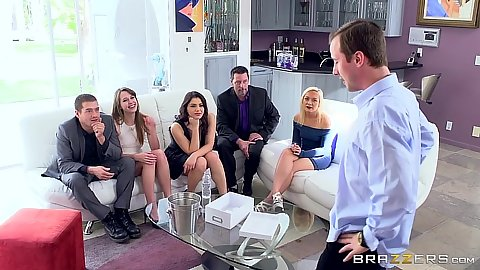 Group party with Valentina Nappi is a bit boring