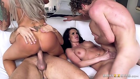 Swingers on vacation 2 on 2 wife sharing with Nina Elle and Alektra Blue