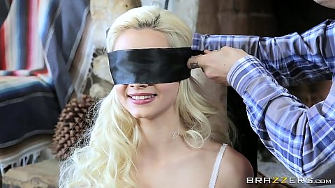 Elsa Jean agrees to wear a blind fold and do some oral with brother in law