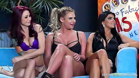 Milf group pornstar orgy with Monique Alexander and Phoenix Marie and Romi Rain