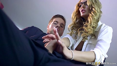 Fully clothed Stacey Saran needs a lay at the firm