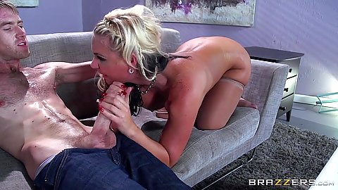 Phoenix Marie loves sucking and fucking really large cocks