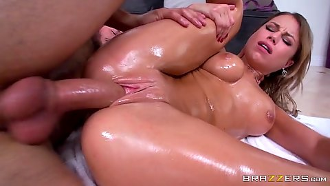 Sideways oily massage fucking with lovely Kendall Kayden
