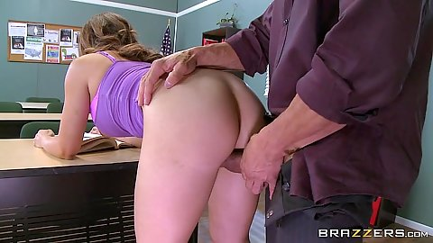 Classroom latina Jean Michaels bent over penetration