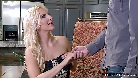 Daring blonde milf Ashley Fires visiting a party