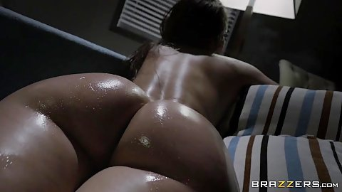 Remy LaCroix is oiled and ready with her big wet butt
