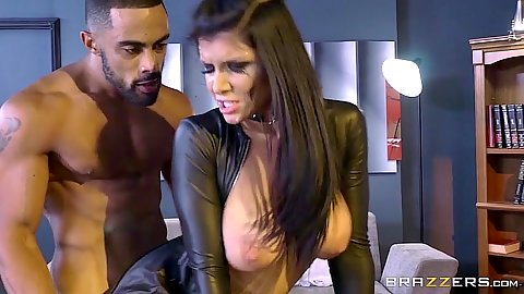 Big boobs interracial assassin sex with Romi Rain