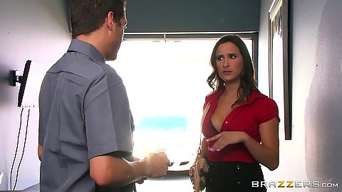 Office Ashley Adams caught by security guards