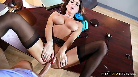 Frontal office table sex with daring milf Jessica Jaymes