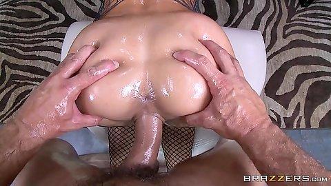 Oily ass pov sex with nice shaped ass Rachel Starr