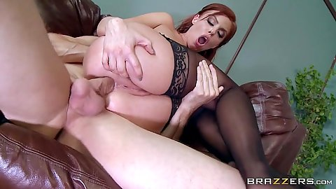 Britney Amber ass entered and ass to mouth reverse blowjob over table with anal close