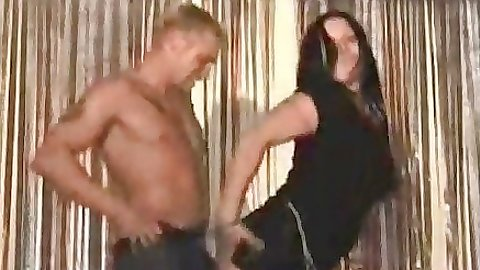 Chicks dancing up and sucking some stripper off