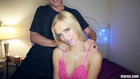 Smiling small boobies blonde Alex Grey in valentines day sex tape
