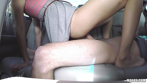 Backseat sex with blonde hitchhiker Naomi Woods