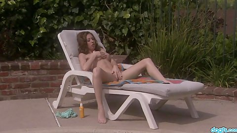 Pason was masturbating on the pool chair naked