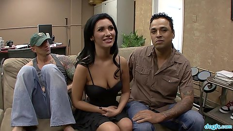 Latina wife with medium breasts Adrianna Rossi  talking about cuckold fuck
