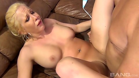 Front pussy fuck and then doggy style with Eden Adams getting a facial at the end