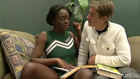 Cheerleader search casting with black girl Sunny