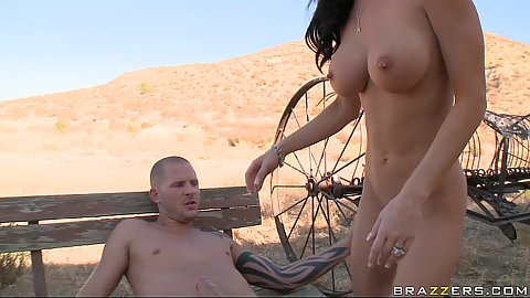 Jessica Jaymes is humping on penis reverse cow girl