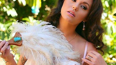 Tasty undressing Khaleesi Wilde looking nice
