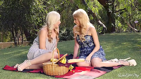 Picnic with lesbian lovers Samantha Rone and Penelope Lynn