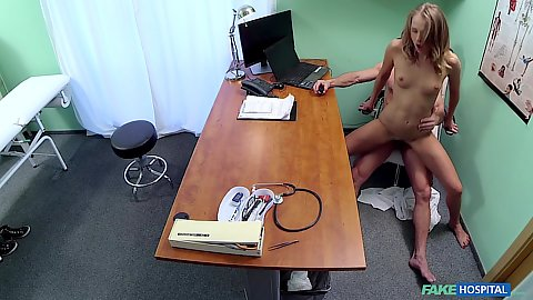 Ivana grinding her doctor right in his officer chair