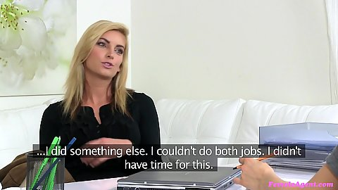 Blonde interview casting with sexy agent agent Whitney Conroy