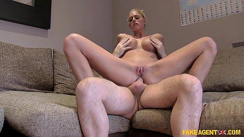 Busty blonde model Chelsey Lanette anal fucks