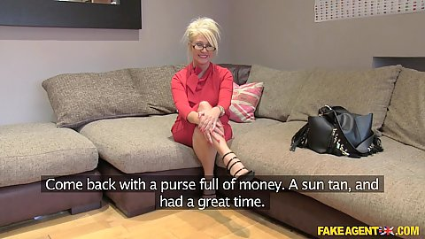 Blonde milf Mia is a little aged but still goes for casting