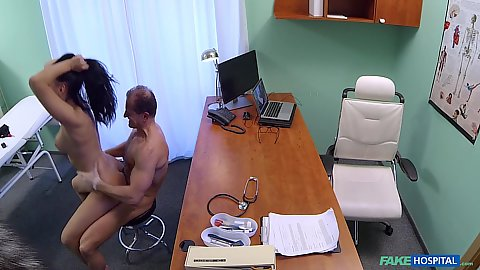 Eveline Dellai fucks doctor after he helps her with vagina problem