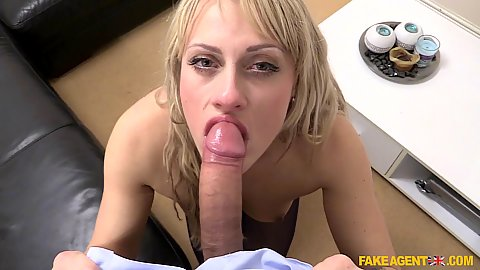 Casting with cock sucking blonde czech amateur Monty