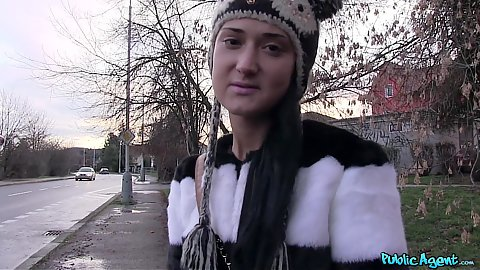 Delicious amateur russian girl approached on street