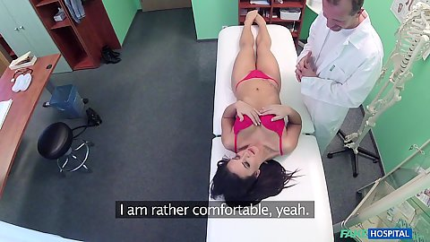 Doctor is asking his female patient to remove bras and panties