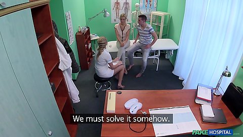 Nurse watches couple get horny Nikky Dream and Bianca