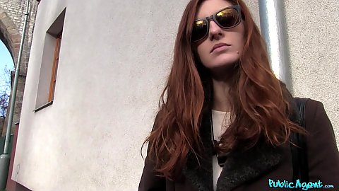 Redhead public pick up with money Ariadna