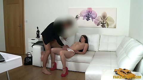 Sexy little dancer Joana get touched by male agent