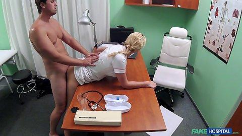 Nurse Nikky Dream fucking an erection problem patient