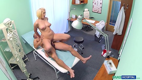 Angelic medical student blonde hottie fucked by doctor in first anatomy lesson