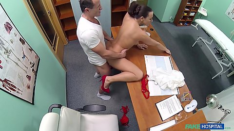 Enticing nurse Mea enjoys doctor fuck as a new hired help
