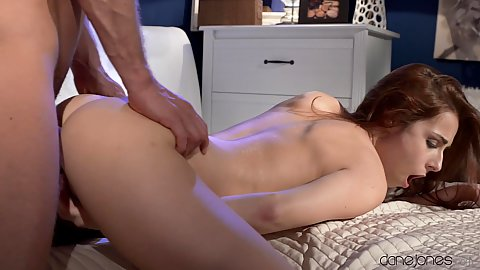 Redhead doggy style penetration with Honey B
