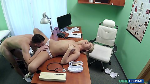 Quick fuck with Nikky Dream the doctor acting nurse on desk