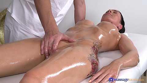 Fingering and groping a very oiled slut Alicia Wild