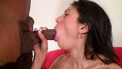Interracial oral sex and titty fuck
