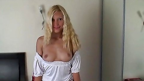 Babe lifts up her school girl skirt and shows pussy