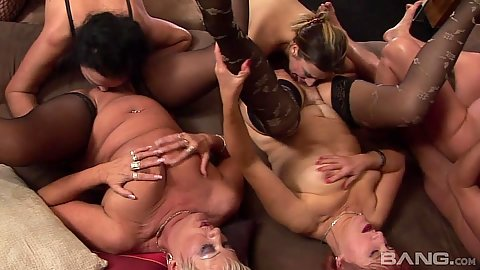 Dirty mature granny housewives fucked in orgy