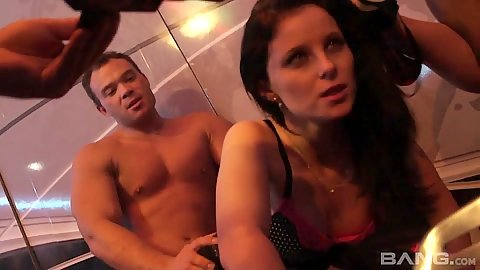 Party sex with girls getting pussy fucked and sucking dicks by the bar