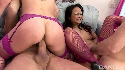 Giving asian whores get nailed in group
