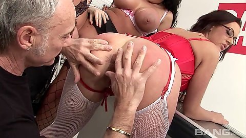 Frisky ass spreading and fingering Kerry Louise and Emma Butt